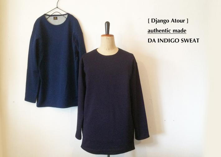Django Atour / authentic made / DA INDIGO SWEAT
