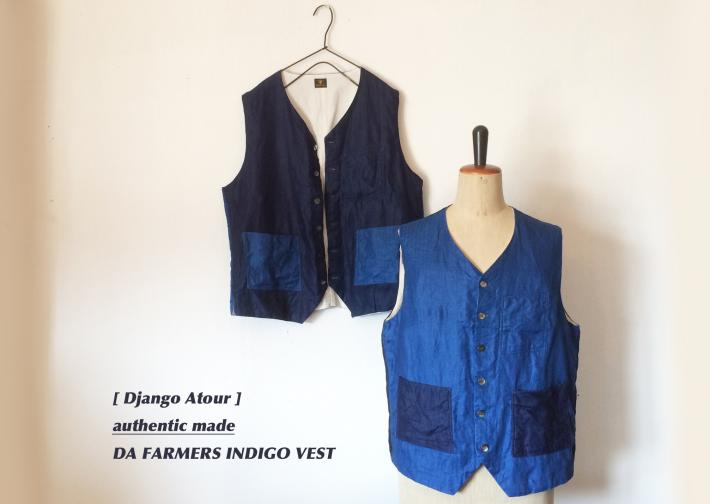 Django Atour / authentic made / DA FARMERS INDIGO VEST