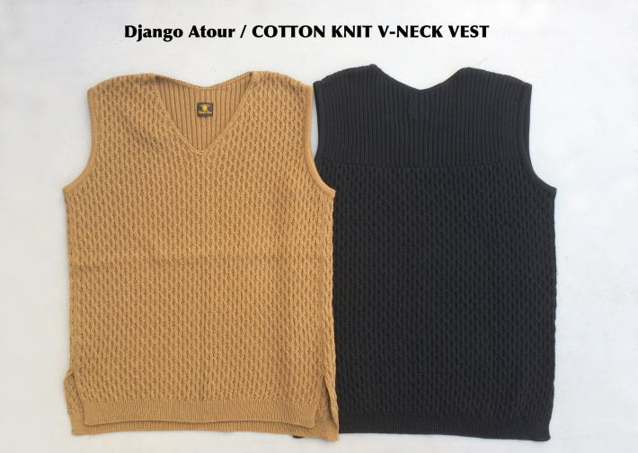 Django Atour / COTTON KNIT V-NECK VEST
