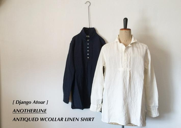 Django Atour / ANOTHERLINE / ANTIQUED WCOLLAR LINEN SHIRT