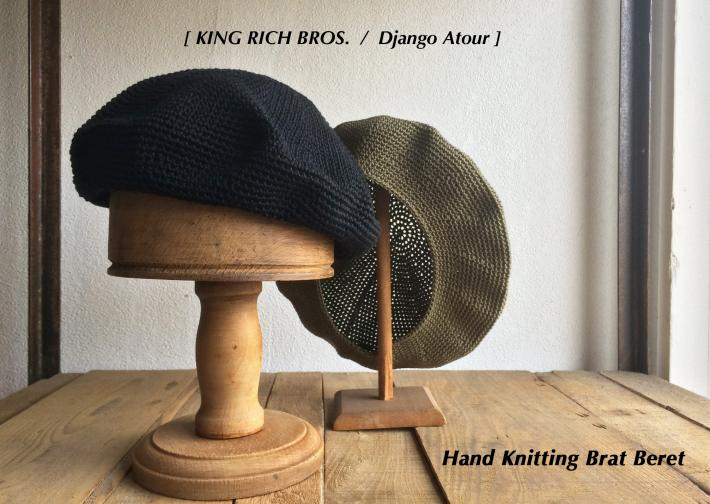KING RICH BROS. / Django Atour / Hand Knitting Brat Beret