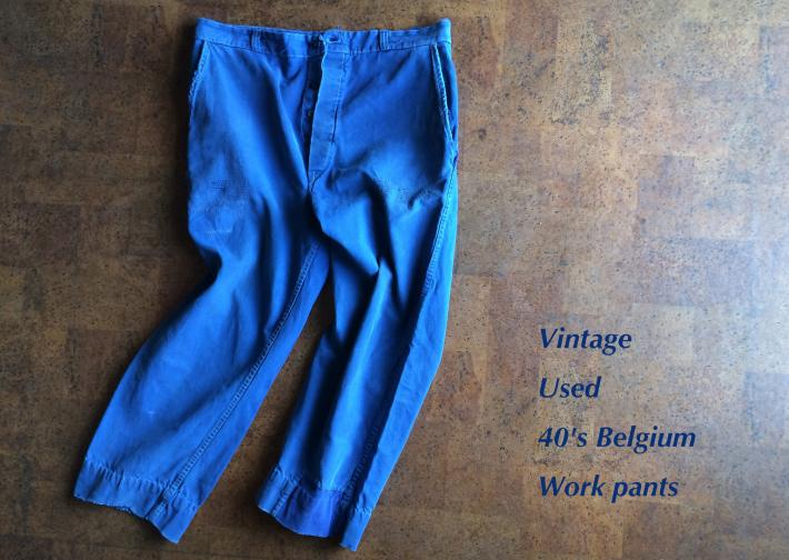 Vintage / Used / 40's Belgium / Work pants