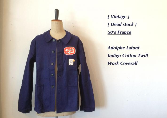 Vintage / Dead stock / 50's France / Adolphe Lafont /Herringbone cotton twill Work coverall