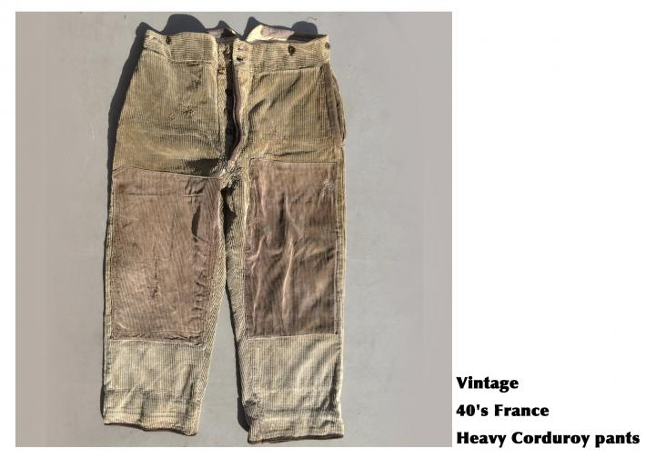 Vintage / 40's France / Heavy Corduroy pants