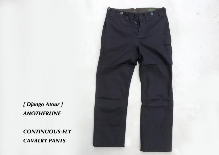 Django Atour / ANOTHERLINE / CONTINUOUS-FLY CAVALRY PANTS